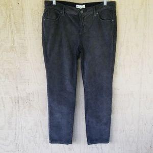 Free People dark gray crop corduroy pants size 30